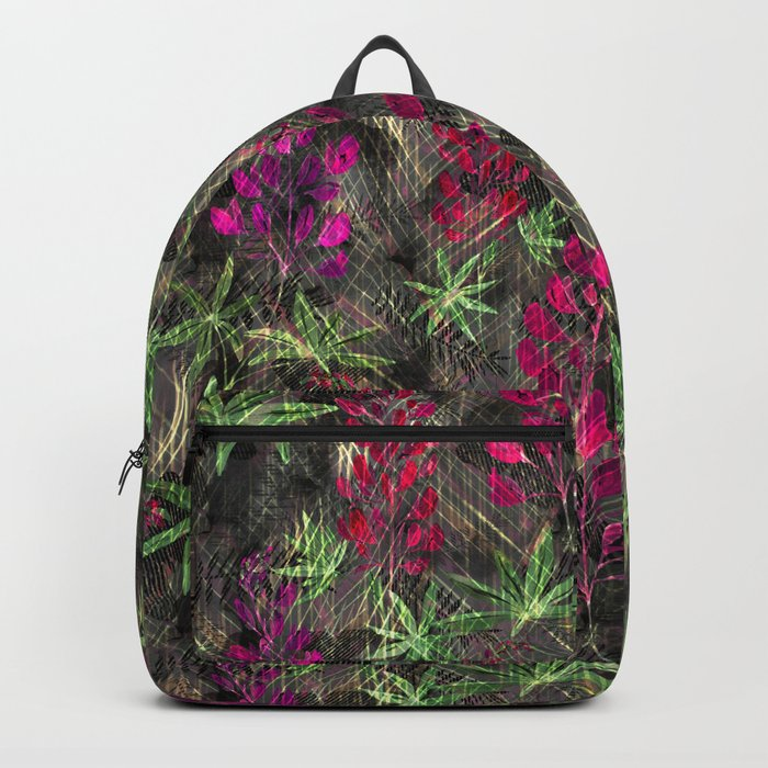 Lupins. Backpack