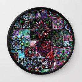 Galaxy Tile Pattern Wall Clock