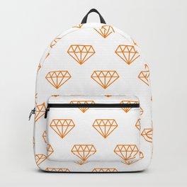 Orange Hipster Diamond Pattern Backpack