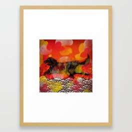 Happy New Year of the Dog Framed Art Print