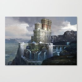 Waterfall Stronghold Canvas Print