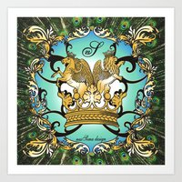 Royal Horse & Leo - animalprint Art Print
