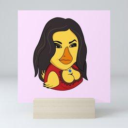 Sasha Gray Duck Waves Mini Art Print