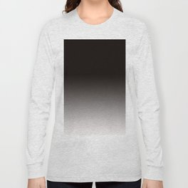 Monochromatic Background, Faded Black to Grey Long Sleeve T-shirt