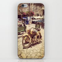 motorcycle iPhone & iPod Skins featuring Motorcycle by Sumii Haleem