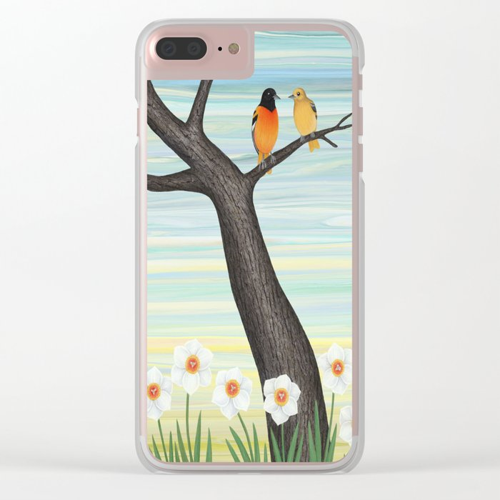 Orioles and daffodils Clear iPhone Case