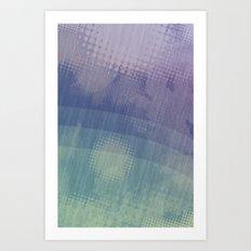 Halftone Borealis Art Print