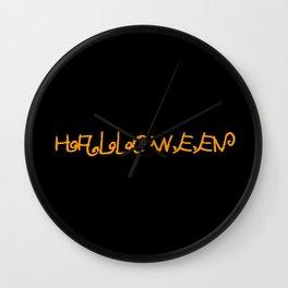 Halloween I Wall Clock