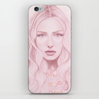 water colour iPhone & iPod Skins featuring Water Colour Girl by DeeDee Design