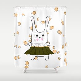 bunny  girl Shower Curtain