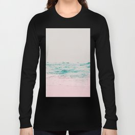 Vintage Pastel Ocean Waves Long Sleeve T-shirt