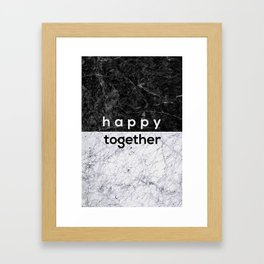Happy Together Couples Quote Framed Art Print