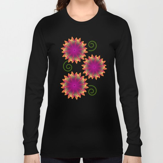 Magical colourful fantasy flower Long Sleeve T-shirt