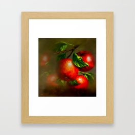 JUICY APPLES Framed Art Print