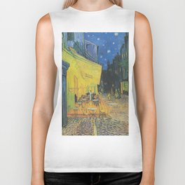 Cafe Terrace at Night by Vincent van Gogh Biker Tank