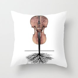 Rooted Sound II Throw Pillow
