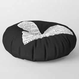 Nick Miller Quotes - black Floor Pillow