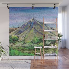The view from Mashuk mountain (Pyatigorsk). Ladscape be pastel Wall Mural