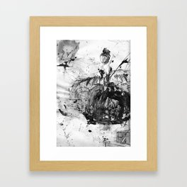 And She Dances upon the Guillotine Framed Art Print