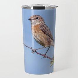 Female Stonechat Travel Mug