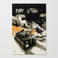 movie poster Canvas Prints featuring Movie Poster by Jamie Givens