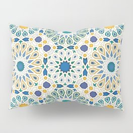 geometric pattern jewel tones  Pillow Sham