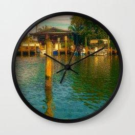 Florida Watering Hole Wall Clock