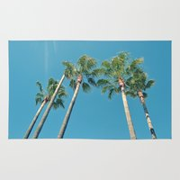 palm tree Area & Throw Rugs featuring Palm tree by Laura James Cook