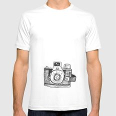 Camera Sketch Mens Fitted Tee MEDIUM White