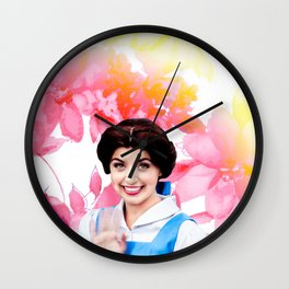 Belle - Flowers Wall Clock