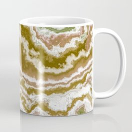 Green and toasted sienna marbling texture Coffee Mug