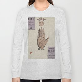 Vintage French Moon Tarot Card Long Sleeve T-shirt