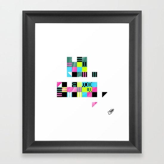 Something Other 5 On White Framed Art Print