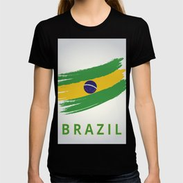 Abstract Brazil Flag Design T-shirt