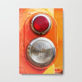 Headlight taillight of a train Metal Print
