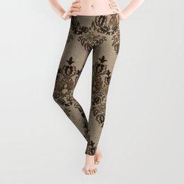 Persian Oriental pattern pastel gold Leggings