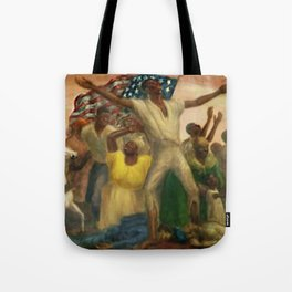 """African American Classical Masterpiece """"Emancipation"""" by John Steuart Curry Tote Bag"""