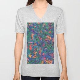 Neon color lavenders Unisex V-Neck