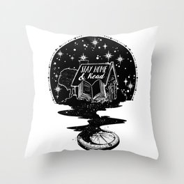 Stay Home & Read Throw Pillow