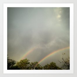 #27Photo #DoubleBlessingPromise #JoburgHope #Rainbows #20151207 #VisualJournal Art Print