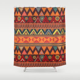 Tribal Ethnic (earth colors) Shower Curtain