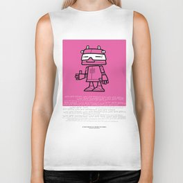 Ze Robot, Pink :) Biker Tank