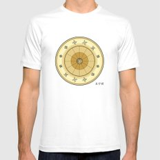 Fleuron Composition No. 113 White Mens Fitted Tee MEDIUM