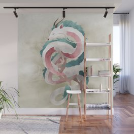 Spirited away - Haku Dragon illustration - Miyazaki, Studio Ghibli Wall Mural