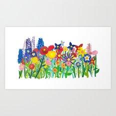 Flowery Bouquet Art Print