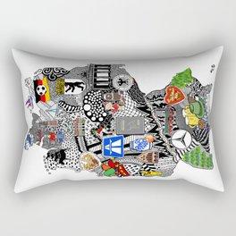 Germany Doodle Rectangular Pillow