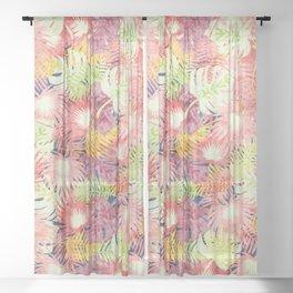 Tropical Leaves #03 Sheer Curtain