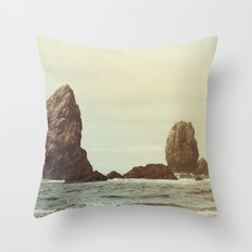 Sea Stacks (Cannon Beach, Oregon) Throw Pillow