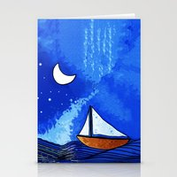 sailing Stationery Cards featuring Sailing by Brontosaurus