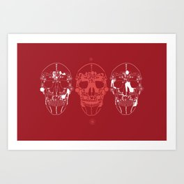 shoes make a skull Art Print
